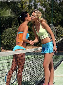 Tennis Player Debby and Aneta Takes Their Sex Pleasure in Tennis Court