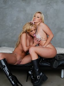 Sinful Blonde Girls Making Love to Each Other By Lesbian Sex Actions