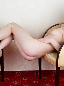 Pretty Babe Nudely Sleeping On the Chair in Horny Action