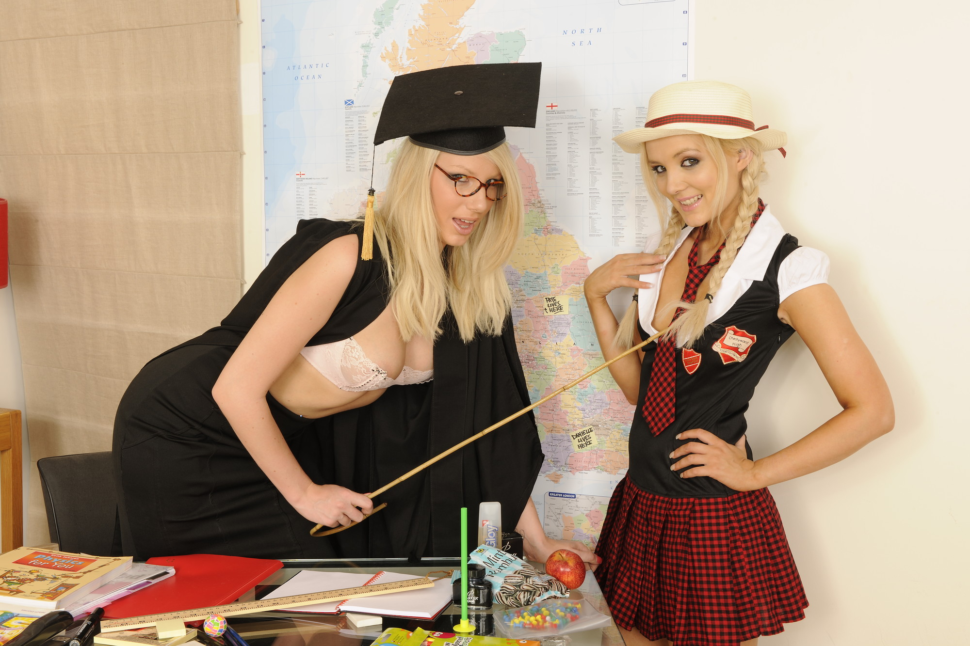 Sexy Blonde Lesbians Licking Their Ass In Class Room Naughtily