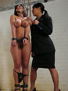 Busty Lesbian Babes Filled Their Both Holes by Strapon Dildo to Getting Orgasm