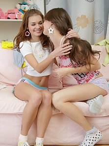 Super Fair Girls Enjoying Hot Lesbian Sex with Great Happiness