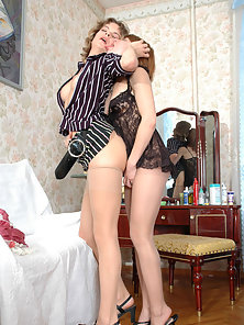 Sexy Chicks Emma and Alice Penetrating Pussy by Strapon