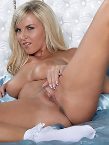 Sexy Blonde Babe Chikita Having Sexy Breast Nailed Her Juicy Twat
