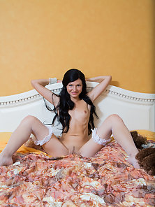 Pretty Amazing Brunette Lesbian Playing with her Doggy Doll