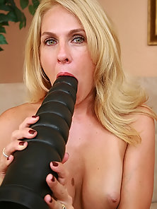 Angela Attison Takes Brutal Dildo in Her Deepthroat and Her Tight Vagina for Fun