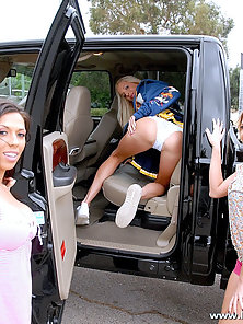 Three Hot Cheer Leader Making Dildo Fucking and Waiting for Deep Hammering
