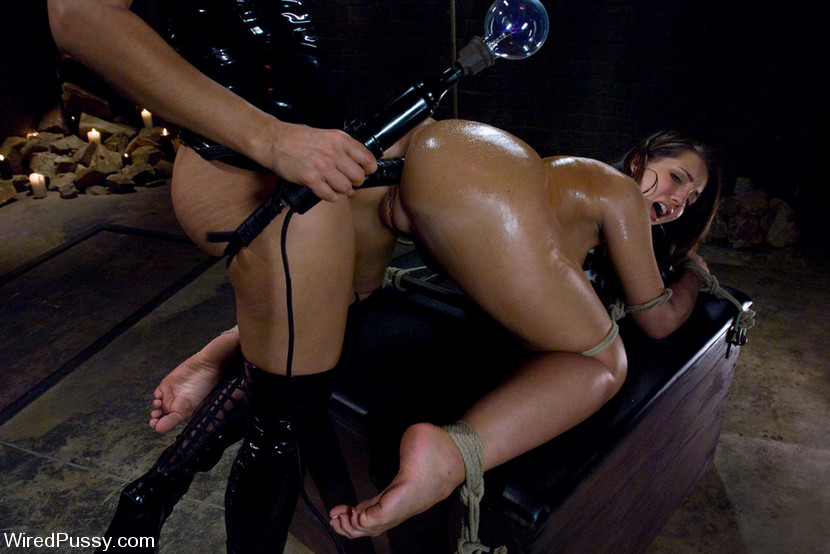 Suggest 2 lesbians fuck in bondage that interfere