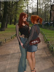 Redhead Sexy Olivia and Lovisa Stripping Inching Pussy Pleasure In Lick Kiss