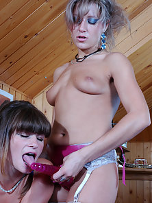 Different Styles of Dildo Fucking Act between Two Nasty Babes Gloria and Nora