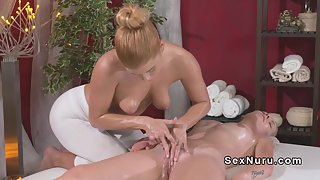 Horny Blonde Babe Gets Her Pussy Fingered Hard On Table