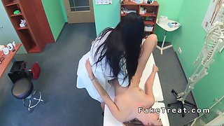Doctor and Patients Horny Licking Kissing For Finger Action